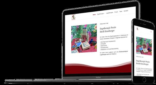 Webdesign Arztpraxis Therapeuten Ergotherapie