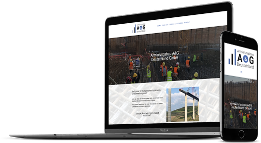 Webdesign Bauunternehmen Bewehrungsbau