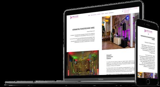 Webdesign Veranstaltungstechnik Verleih Mietshop